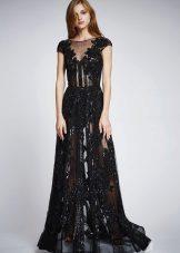 Лятна секси полупрозрачна дантела рокля
