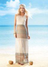 Lätt klänning i stil med boho stickade