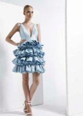 Fluffig kort klänning