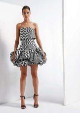 Afton kort klänning