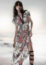 Vestido de verão com estampa