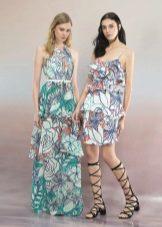 Vestido de verão com estampa floral