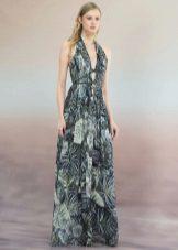 Лятна рокля с печат на пода