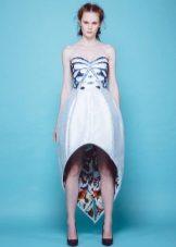 Butterfly High Low Summer Dress
