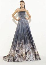 Вечерна рокля с печат