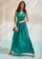 Vestido de noite turquesa
