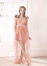 Rosa klänning för examen kort