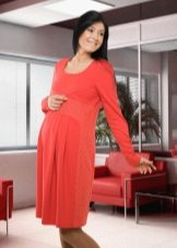 Autumn dress for pregnant women with sleeves