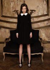 Есенна рокля черна