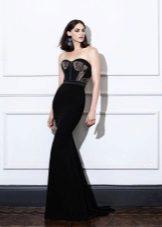 Musta merenneito Olkaimeton mekko