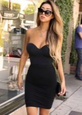 Fitted Black Bustier Dress