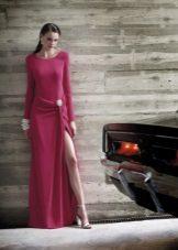 Vestido Vermelho Fechado Jersey