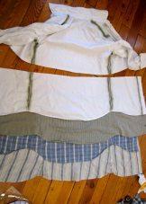 babados de vestido de camisa