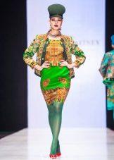 Rochie de designer Paviloposadsky eșarfă Zaitsev