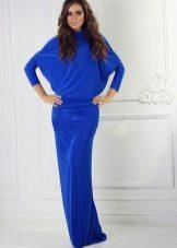 Lange jurk bat met lange ukavom