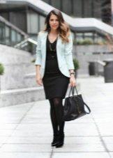 Jaqueta para vestido preto para corporativo