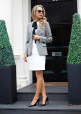 Jaqueta para vestido branco para corporativo