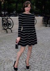 Dress with a skirt sun long sleeve