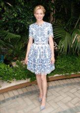 Dress with a skirt sun short sleeve