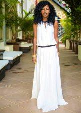 Låg midja lång klänning för korta kvinnor