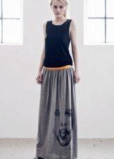 Rochie lungă în două tonuri cu talie joasă