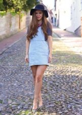 Short denim dress sundress