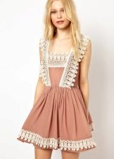 Beige lace dress sundress