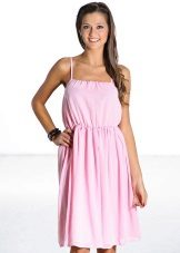 The pink fitted dress sundress