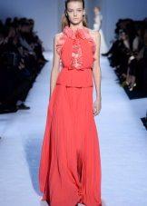 Vestido rosa crepe de chine