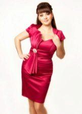 Vestido de crepe de chine vermelho para completo
