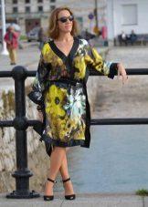 Vestido de quimono crepe de chine
