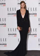 Vestido preto crepe de chine