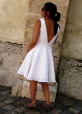 Neoprene A-line Backless Dress