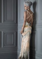 Floor-length backless dress