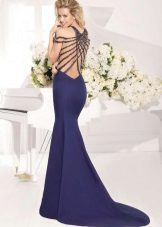 Dress mermaid with train blue