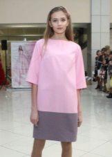 Kaksisävyinen mekko on laiha 60-luvun tyyliin