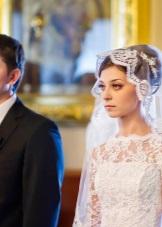 Šalikas į vestuvių suknelę