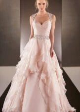 Vestuvių suknelė rožinė