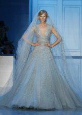 Vestuvių suknelė mėlyna