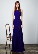 Slim evening dress na may slit