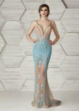 Mermaid įrengta suknelė beige