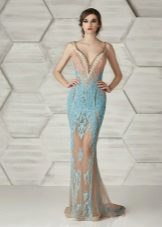 Mermaid Fitted Dress Beige