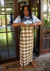 Sarong as a skirt - a way of tying in Burma