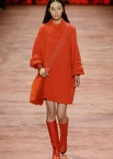 Winter dress sweater orange
