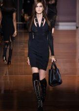 Sapatos de verão para vestido preto