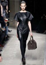 Bolsa para vestido de couro preto