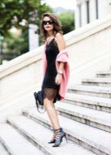 vestido semi-preto