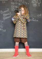 A-line színes ruha lányoknak 3-5 év