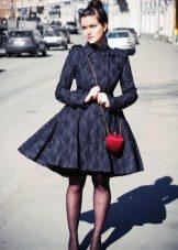 Black transparent panty hoses for a magnificent dress