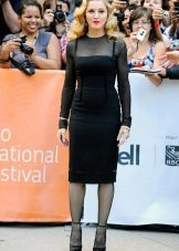 Black thin tights to a black dress